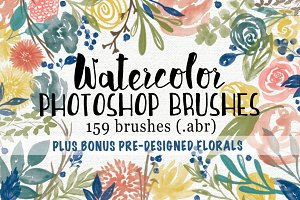 Watercolor Floral Garden PS Brushes