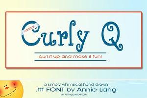 Annie's Curly Q Font