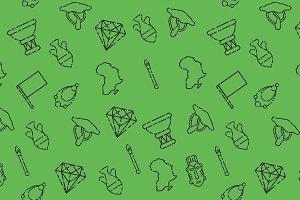 Africa set pattern