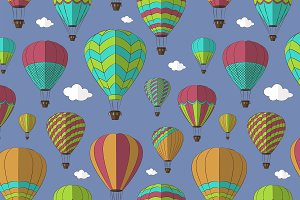 Air Balloons set pattern