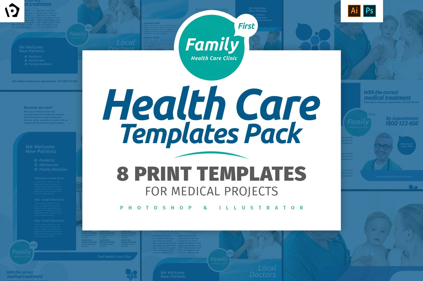 Healthy Mind A Brochure Template Brochure Templates Creative - Health brochure templates