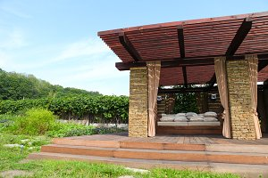 garden brick house