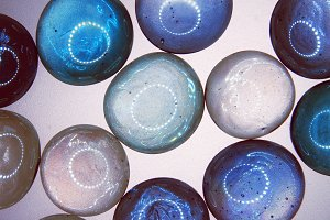 background of colorful glass balls