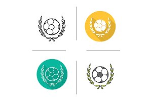 Football championship icons. Vector