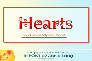 Annie's Hearts Font