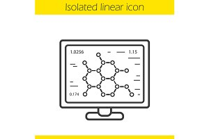 Molecular structure icon. Vector