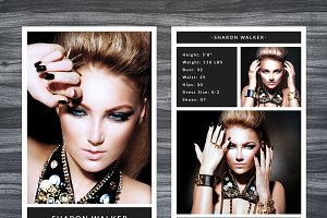 Model Comp Card Template Photos Graphics Fonts Themes Templates