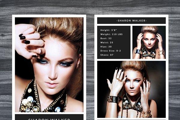 Model Comp Card Template   Creative Photoshop Templates ...
