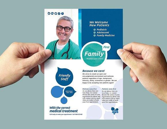 Healthcare Clinic Flyer Template 2 Flyer Templates Creative Market