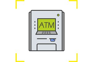 Atm machine icon. Vector