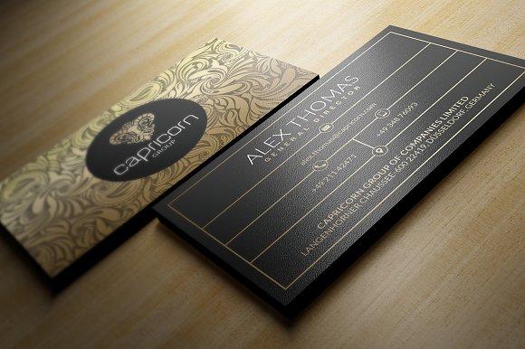 Gold and black business card business card templates creative market colourmoves