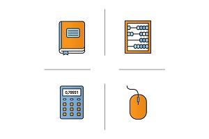 Accounting. 4 icons. Vector