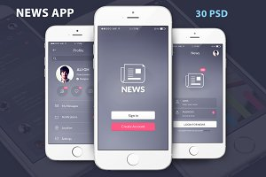 NEWS UI kit MOBILE