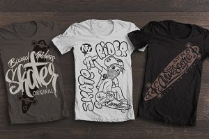Skate rider t-shirt graphics