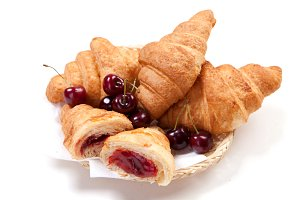 pastry with jam from cherry