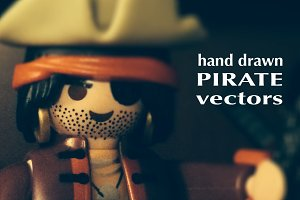 21 Hand Drawn Pirate Vectors