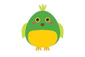 Cute parrot icon