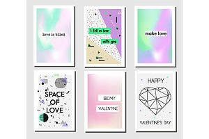 Romantic cards templates.Vector