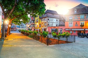 Colmar city center, France