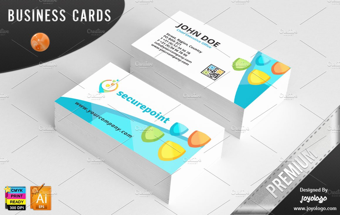 3d shields point it security bc business card templates for Business card 3d template