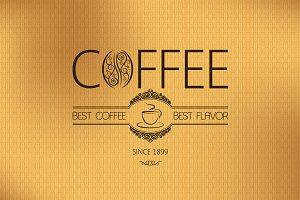 Menu coffee background illustration.