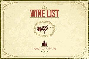 Wine background illustration.