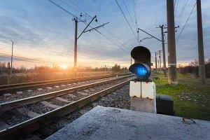 Railway. Industrial landscape