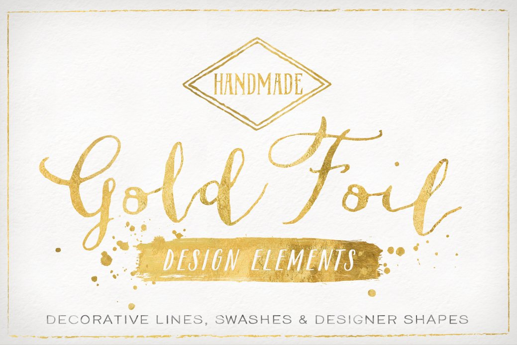 Vector Text Generator : Gold foil design elements vectors objects creative