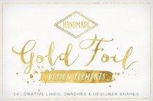 Gold Foil Design Elements & Vectors