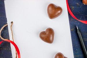 Notebook & candies for Valentine's