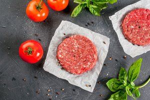 Minced beef steak burger