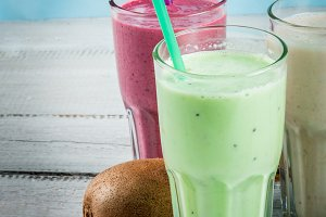 Fruit's milkshakes or smoothies