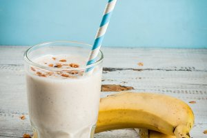 Banana milkshake or smoothie