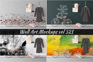 Wall Mockup - Sticker Mockup Vol 321