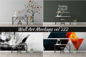 Wall Mockup - Sticker Mockup Vol 322