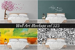 Wall Mockup - Sticker Mockup Vol 323