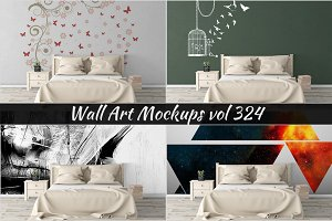 Wall Mockup - Sticker Mockup Vol 324