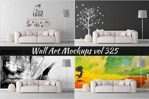 Wall Mockup - Sticker Mockup Vol 325