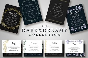 Dark & Dreamy Invitation Collection