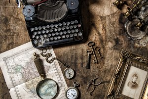 Antique typewriter vintage items