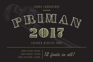 Priman Layered Display Font
