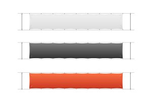 Blank Banner Textile Set