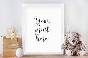 White Frame Nursery Mockup