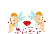 Valentine's Day concept. Cupid