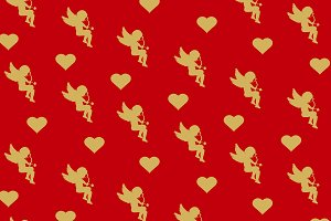 Wrapping paper. Valentine's Day