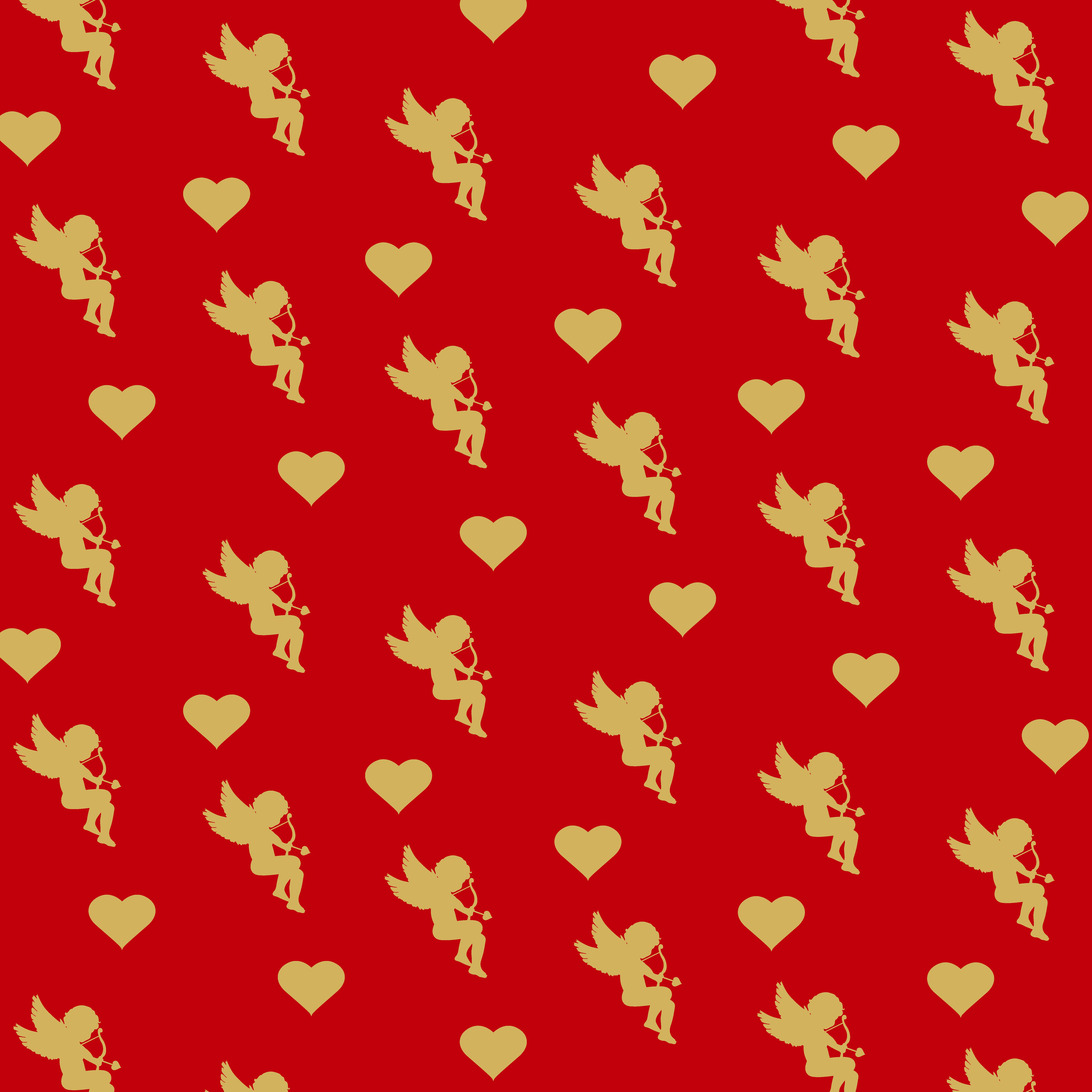 wrapping paper valentines day illustrations creative market - Valentines Day Wrapping Paper