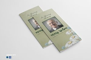 Trifold Funeral Program Template