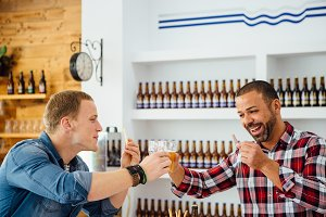 Friends on a craft beer tasting
