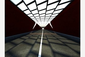 Traffic Tunnel 3D rendering
