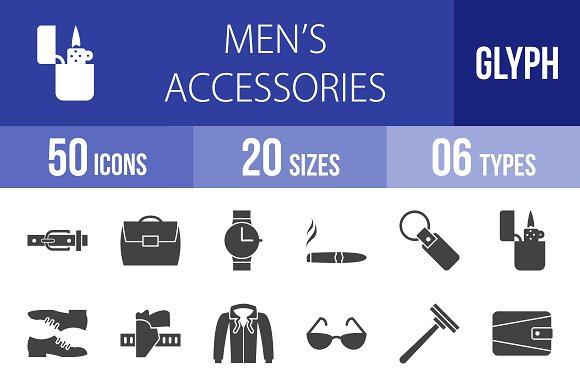 50 Men's Items Glyph Icons